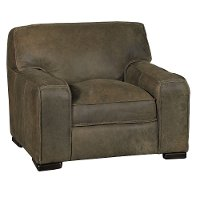 Casual Classic Brown Leather Chair - Modena