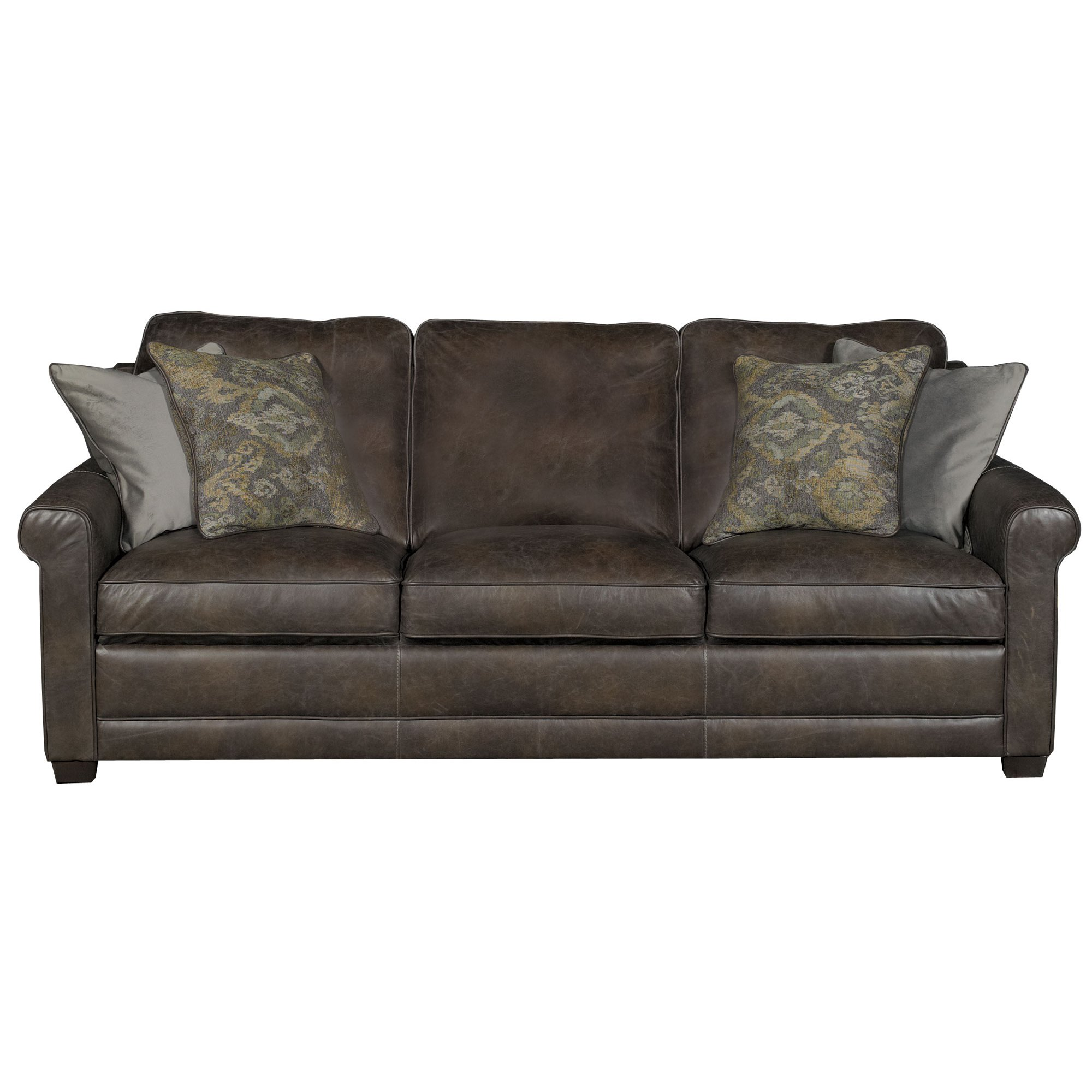 Stone leather sofa kane s furniture sofas and couches for Casual couch