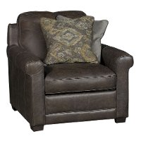 Casual Classic Stone Brown Leather Chair - Crafton