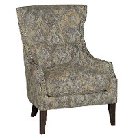 Ikat Stone Classic Traditional Wing Chair - Crafton
