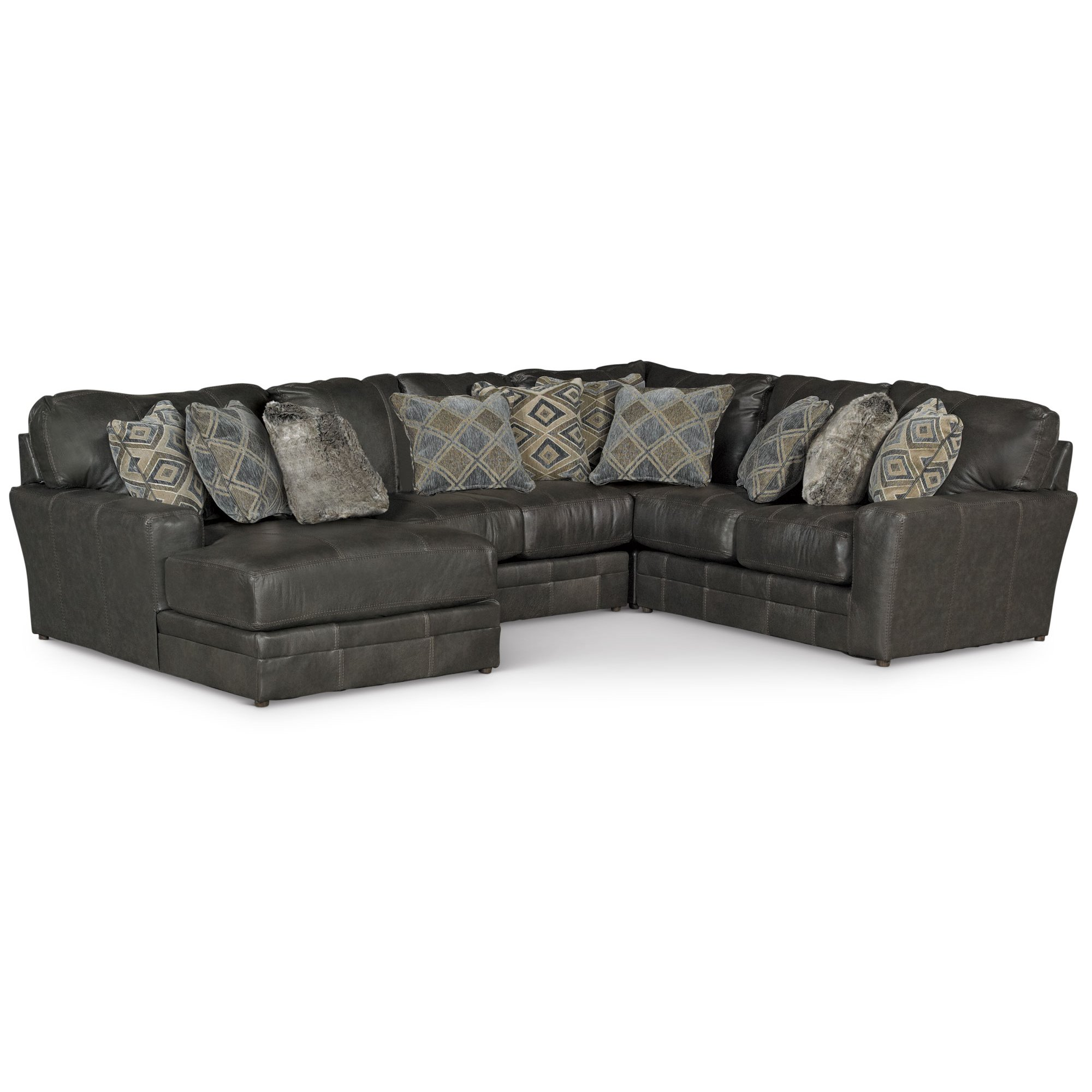Casual Classic Steel Gray 4 Piece Sectional Sofa   Denali | RC Willey  Furniture Store