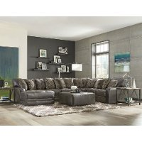 Steel Gray 5 Piece Sectional Sofa with LAF Chaise - Denali
