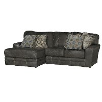 Casual Classic Steel Gray 2 Piece Sectional Sofa - Denali
