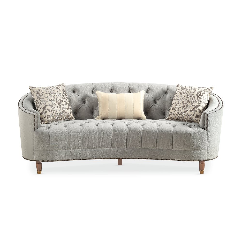 Delightful Traditional Gray Curved Sofa   Classic Elegance | RC Willey Furniture Store