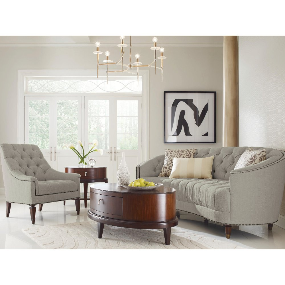 Traditional Gray Curved Sofa   Classic Elegance | RC Willey Furniture Store