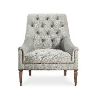 Traditional Gray Button-Tufted Chair - Classic Elegance