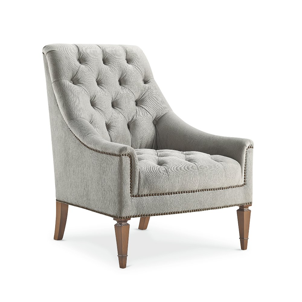 Traditional Gray Button Tufted Chair   Classic Elegance | RC Willey  Furniture Store