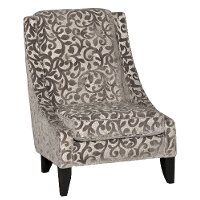 Casual Traditional Vine Taupe Accent Chair - Winslet