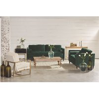 Green 2 Piece Living Room Set - Dapper