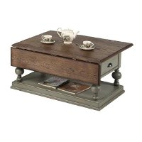 Weathered Gray Drop Leaf Coffee Table - Colonnades