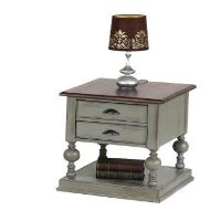 Weathered Gray End Table - Colonnades