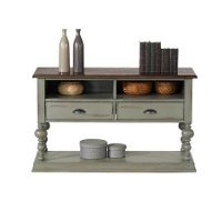 Weathered Gray Sofa Table - Colonnades