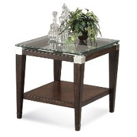 Glass Top End Table - Dunhill