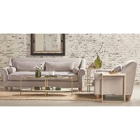 Magnolia Home Furniture Flannel Gray Sofa & Loveseat Set - Rose Hill