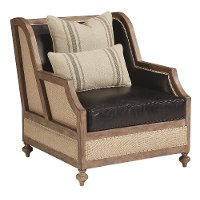 Magnolia Home Furniture Ivory & Black Leather Chair - Foundation