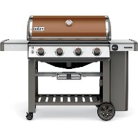 62020001 Weber Genesis II E-410 Four-Burner Propane Gas Grill - Copper