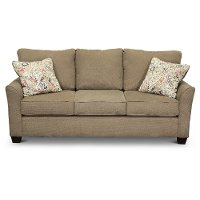 Casual Contemporary Light Brown Sofa - Tara