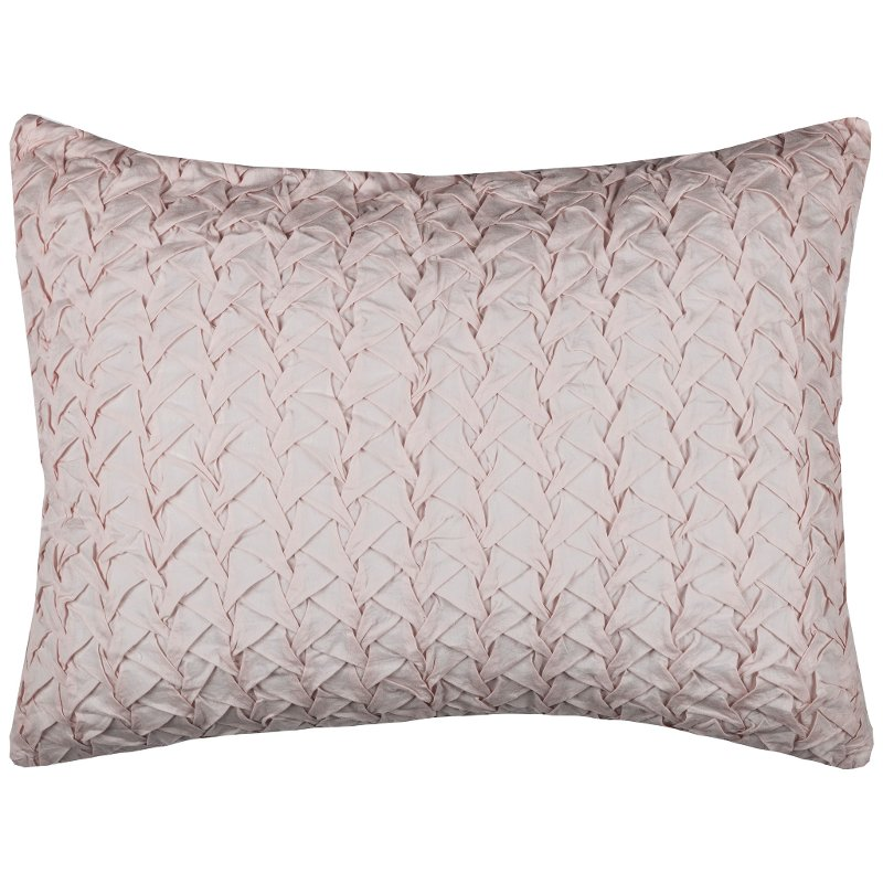Petal Pink Standard Sham - Carly Bedding Collection