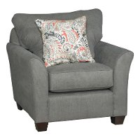 Casual Contemporary Charcoal Gray Chair - Tara