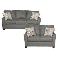 Contemporary Gray 2 Piece Living Room Set - Tara