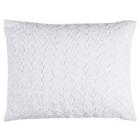 White Standard Sham - Carly Bedding Collection
