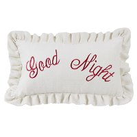 Good Night Embroidery Throw Pillow