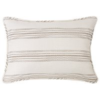 Taupe Ticking Stripe Standard Sham