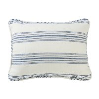Navy Ticking Stripe Standard Sham