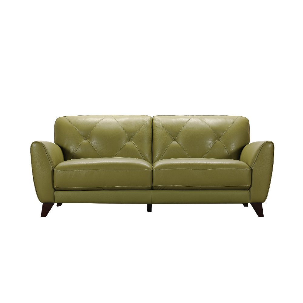 Light green leather sofa green sofa couches lime emerald for Light green sectional sofa