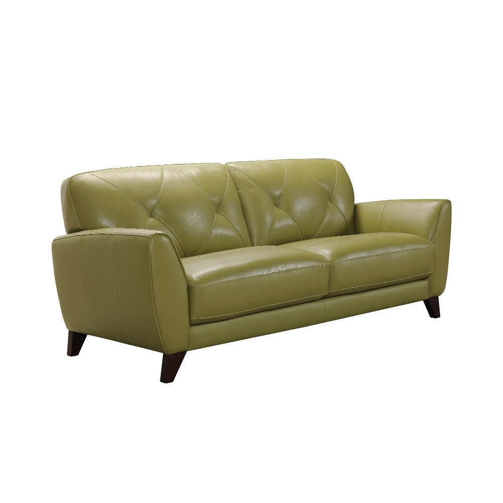 Modern Green Leather Sofa Colours RC Willey Furniture Store