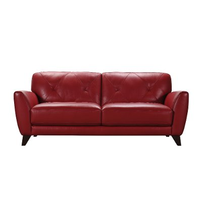 Modern Red Leather Sofa - Colours   Rc Willey Furniture Store