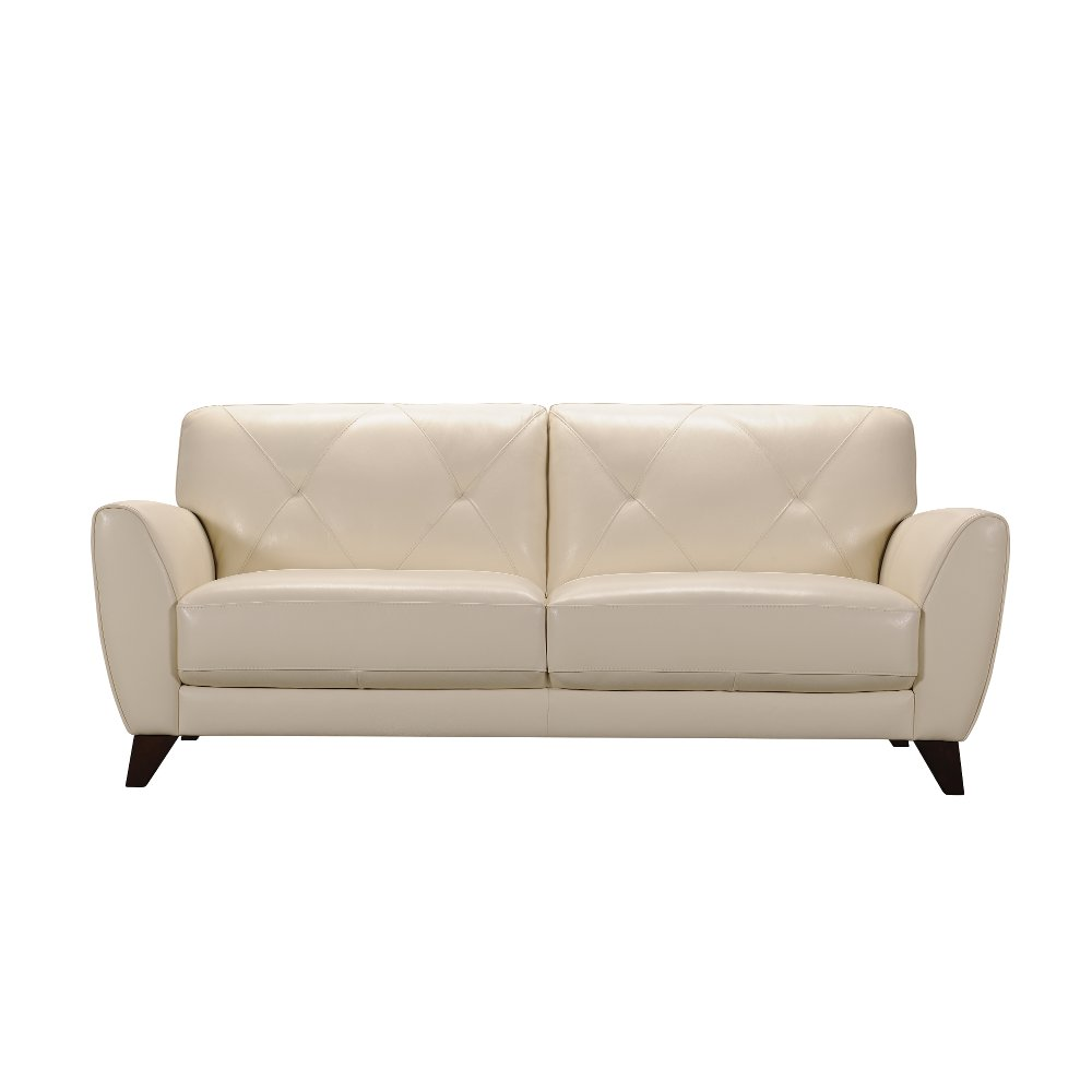White Leather Loveseat Small Sofa Love Seat White Leather Icelandic White Power Reclining