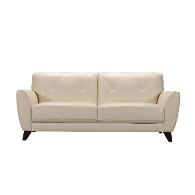 Modern White Leather Sofa   Colours