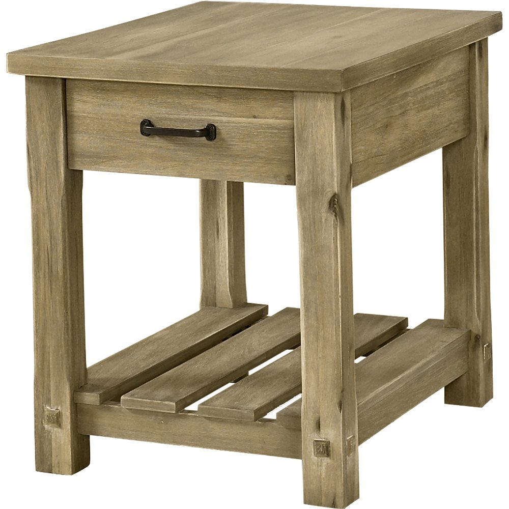 Rustic Wood End Table - Napa | RC Willey Furniture Store