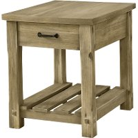 Rustic Wood End Table - Napa