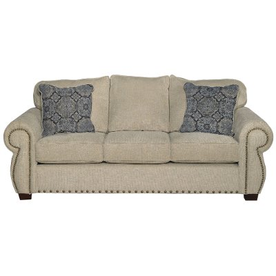 Awesome Casual Traditional Canvas Tan Sofa   Southport