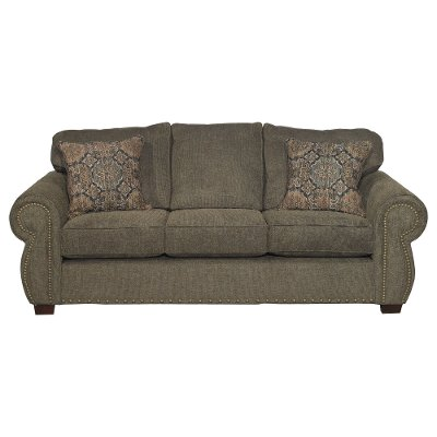Casual Traditional Coffee Brown Sofa
