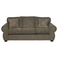 Casual Traditional Coffee Brown Queen Sofa Bed - Southport