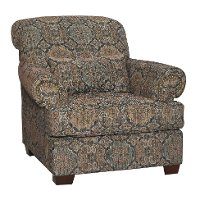 Casual Traditional Tobacco Accent Chair - Southport
