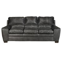 Casual Contemporary Graphite Gray Sofa - Caruso