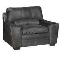 Casual Contemporary Graphite Gray Chair - Caruso