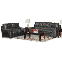 Casual Contemporary Gray 2 Piece Living Room Set - Caruso
