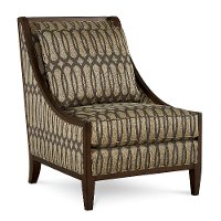 Modern Traditional Ogee-patterned Gold Accent Chair - Intrigue