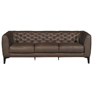 ... 91 B988 064/25TA/SO Clearance Modern Classic Brown Leather Sofa   Part 76