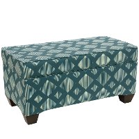 6225STLNLTCOGA Line Lattice Teal Storage Bench