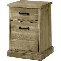 Rustic Wood Chair Side Table - Napa