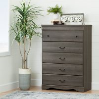 10304 Gray Maple 5-Drawer Chest - Vintage