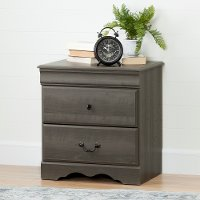 10305 Gray Maple Drawer Nightstand - Vintage
