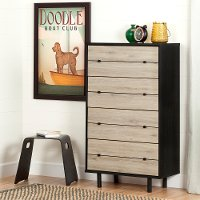10502 Rustic Oak 4 Drawer Chest - Morice