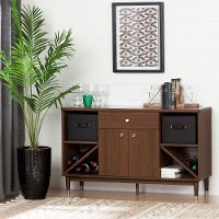 10522 Brown Walnut Sideboard Storage Cabinet - Olly